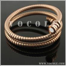 multiple circle snake stainless steel fashion bracelet