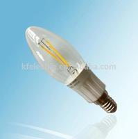 China led light 3w filament candle bulb with 2pcs 1.5W COB