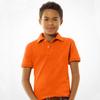 orange color pique blank polo shirt