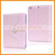 Luxury Diamond Flip Stand Leather Case For iPad Mini 2 Flip Diamond Case