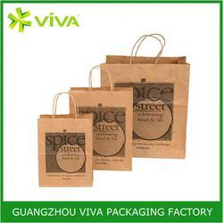 Factory produce custom printed advertising kraft paper bags