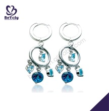 Dazzling blue cz earrings silver earrings 925 sterling silver jewel