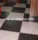 Best quality anti slip interlock living room rubber mat flooring