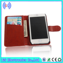 wallet flip genuine vertical flip leather case for samsung galaxy s4