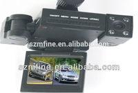 "Transformers 2.0"" tft lcd ROHS Certification dual camera car dvr recorder,8IR lights,2 rotatable cameras"