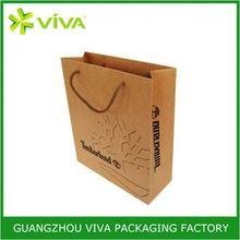 Custom Eco-freindly Brown kraft paper grocery bags