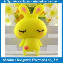 The new delicate mini usb flash disk 16GB Silicone,Mini cartoon U disk 16GB love rabbit