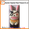 Animal shape rabbit ear silicone mobile phone case for iphone 5
