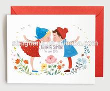 Art Printed Wedding Paper Card