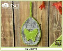 BSCI handmade wooden crafts fabric butterfly