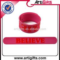 Promotional gifts silicone ruler slap bracelet