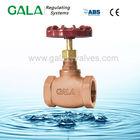 High pressure gas brass stop valve