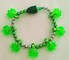 2014 popular St.patrick's day LED shamrock beads flashing bracelet