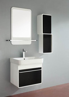 cheap white fashion french style wall mounted corner bathroom mirror cabinet