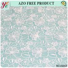New arrival saree border embroidery designs organza fabric