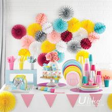 paper fans bulk party decoration colorful tissue paper fan popular paper craft