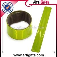Promotion cheap reflective slap ruler bracelet