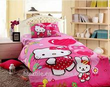 New Design Hello Kitty 100%Cotton 4pcs Bedding Sets for Children