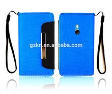 Folio leather wallet case for Nokia Lumia 800 flip pouch