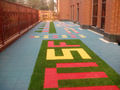 colorido ambiente amigável de infância pisos mat