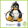 2014 Soft rubber plastic animal keychain with light