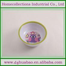 100% Melamine 3pcs melamine tableware plate bowl tumbler for promotion
