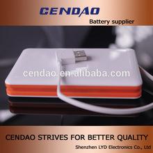 built-in cable 8000mah real capacity power bank dual usb ou put socket 5v 1a/2.1a 8000mah portable high capacity power bank