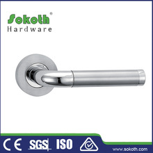 "Polished Stainless Steel INOX Tubular""AURORA""LH RH Door Lever Handle PRIVACY"