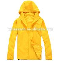 Nylon windbreaker women plus size yellow