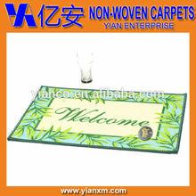 Entrance Welcome printed 100%PP carpet, door mat, rugs