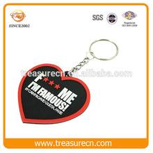 Heart Shaped Cheaper Rubber/Soft PVC Keyholder