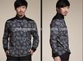 Camicie casual da uomo di marca internazionale, Inghilterra di lusso in stile degli uomini per il tempo libero camicia uomo