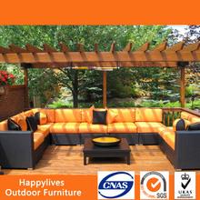 MT2884 Golden Sofa waterproof fabic rattan courtyard furniture