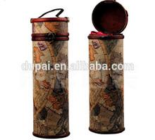 High-end vintage style leather material wine bottle holder