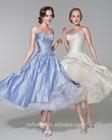 JM.Bridals CY2871 Popular Sweetheart neckline Taffeta Tulle Ball gown tea length wedding dress patterns
