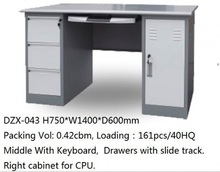Stainless Full Metal drawing table with computer desk