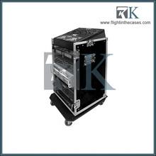 RK speaker mixer flightcase, road case with casters, easy for transportation