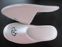 Cotton velour Embroidery disposable hospital slippers