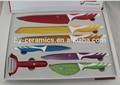 Súper Lux suizo de 7 piezas cuchillo de cocina conjunto con recubrimiento antiadherente
