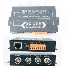 UTP 4CH Passive Video Balun Transceiver Cat5 Camera DVR 4 BNC CCTV