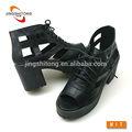 bloco de salto plataforma meninas sandália da moda