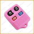 de plástico de auto control remoto clave cubre 4 botones sin llave mandos a distancia para ford de color rosa