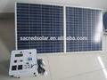 70w sistema casero solar para la luz, ventilador, tv