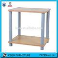 2 tier prateleira de madeira decorativa suporte kc- 8093p2