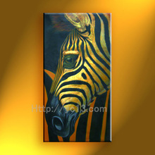 2014 new zebra elephant hand painted oil painting on canvas decoration