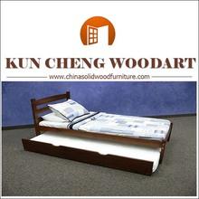 Bedroom soft teak wood beds models with drawers
