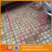 Hebei Factory cheapest pvc coated dog mesh cages fence
