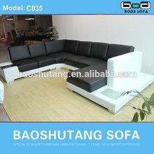 2014 new sofa design black and whtie sofa C035