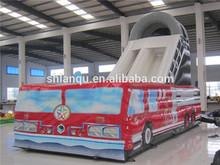 Kids Commercial Grade Inflatable Fire Truck Slide for Sale