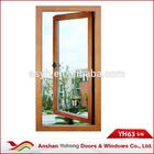 wood grain finish exterior aluminum casement windows